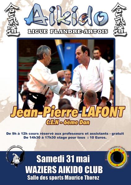 stage d'aikido à Waziers avec JP Lafont